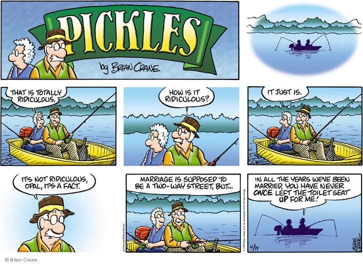 Comic Strip Brian Crane  Pickles 2009-04-19 husband