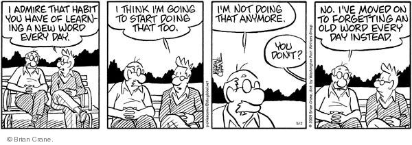 Comic Strip Brian Crane  Pickles 2009-05-02 memory