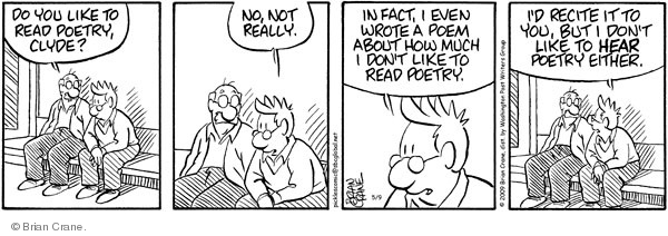 Comic Strip Brian Crane  Pickles 2009-05-09 recite