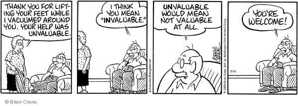 Comic Strip Brian Crane  Pickles 2009-05-16 husband