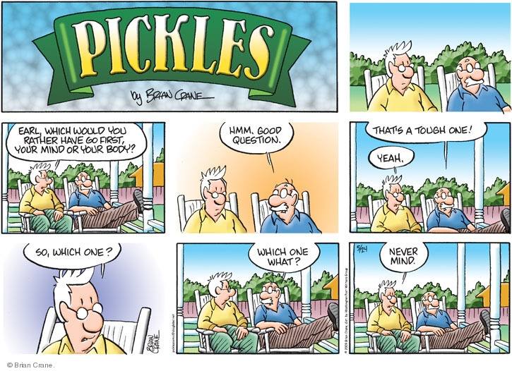Comic Strip Brian Crane  Pickles 2009-05-24 memory