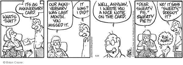 Comic Strip Brian Crane  Pickles 2009-05-25 husband and wife