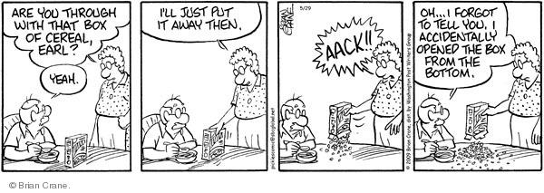 Comic Strip Brian Crane  Pickles 2009-05-29 breakfast cereal