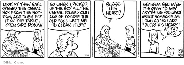 Comic Strip Brian Crane  Pickles 2009-05-30 husband and wife