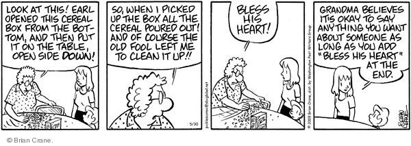 Comic Strip Brian Crane  Pickles 2009-05-30 upside down