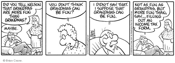 Comic Strip Brian Crane  Pickles 2009-06-08 tax