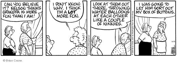 Comic Strip Brian Crane  Pickles 2009-06-10 in water