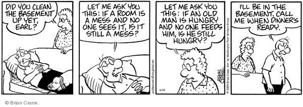 Comic Strip Brian Crane  Pickles 2009-06-12 husband and wife