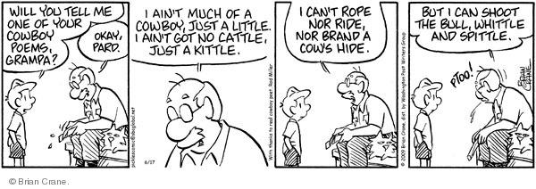 Comic Strip Brian Crane  Pickles 2009-06-17 poet