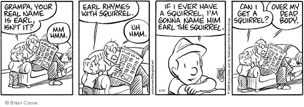 Comic Strip Brian Crane  Pickles 2009-06-19 rhyme