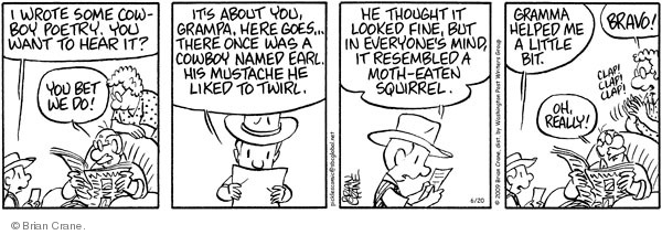 Comic Strip Brian Crane  Pickles 2009-06-20 poet