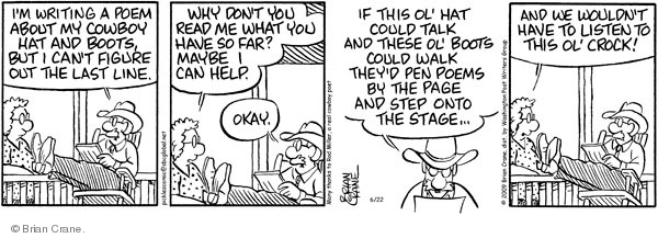 Comic Strip Brian Crane  Pickles 2009-06-22 rhyme