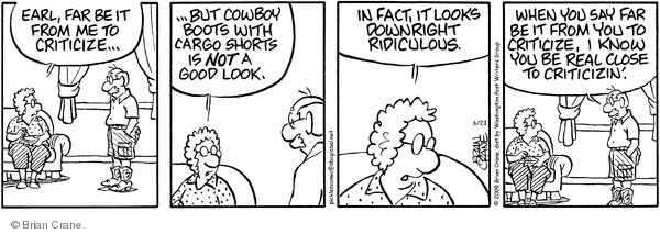 Comic Strip Brian Crane  Pickles 2009-06-23 statement