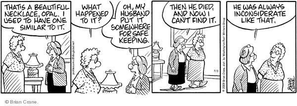 Comic Strip Brian Crane  Pickles 2009-07-03 husband