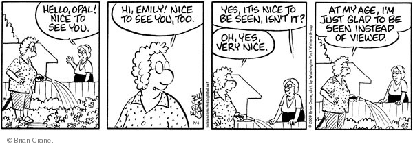Comic Strip Brian Crane  Pickles 2009-04-04 Emily