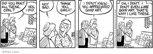 Comic Strip Brian Crane  Pickles 2009-07-06 Emily