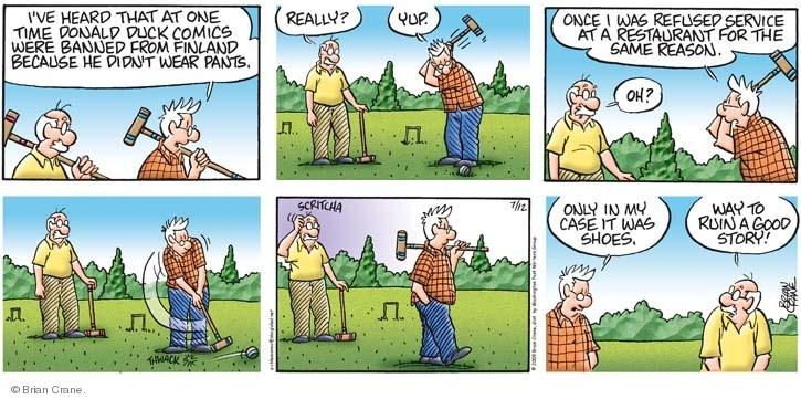 Comic Strip Brian Crane  Pickles 2009-07-12 ruin
