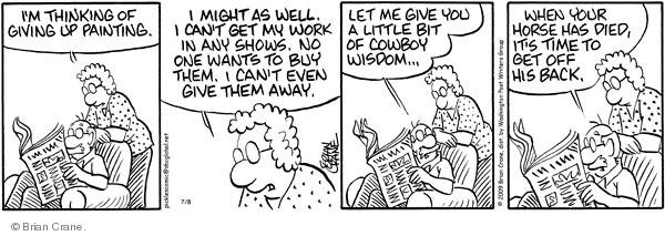 Comic Strip Brian Crane  Pickles 2009-07-08 cowboy