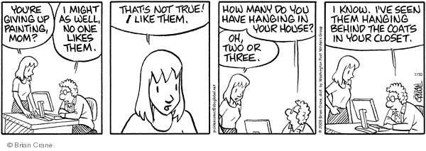 Comic Strip Brian Crane  Pickles 2009-07-10 might