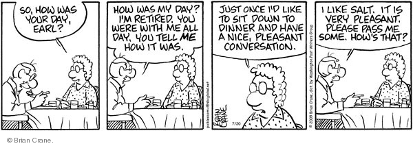 Comic Strip Brian Crane  Pickles 2009-07-20 husband
