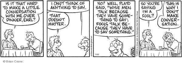 Comic Strip Brian Crane  Pickles 2009-07-22 doesn't matter