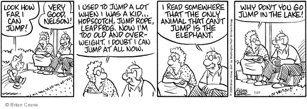 Comic Strip Brian Crane  Pickles 2009-07-27 distance