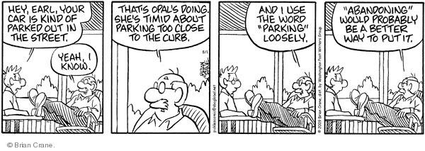 Comic Strip Brian Crane  Pickles 2009-08-01 distance