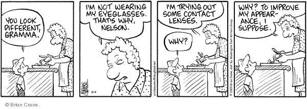 Comic Strip Brian Crane  Pickles 2009-08-04 contact