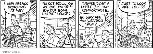 Comic Strip Brian Crane  Pickles 2009-08-05 uncomfortable