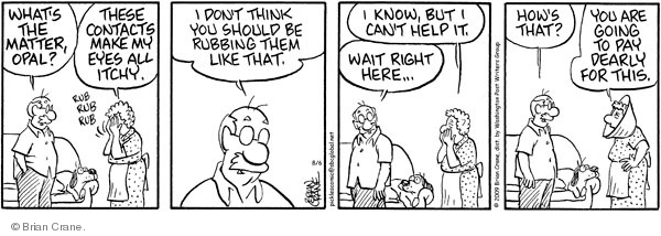Comic Strip Brian Crane  Pickles 2009-08-06 contact