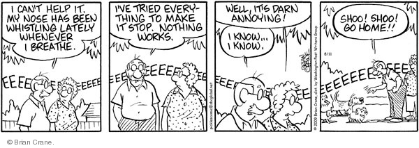 Comic Strip Brian Crane  Pickles 2009-08-11 dog whistle