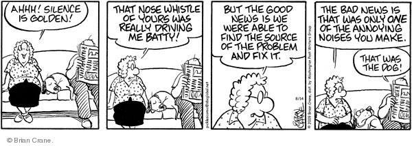 Comic Strip Brian Crane  Pickles 2009-08-14 dog whistle