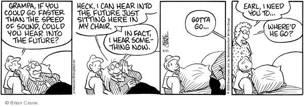 Comic Strip Brian Crane  Pickles 2009-08-21 husband