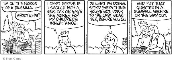 Comic Strip Brian Crane  Pickles 2009-09-01 buying car