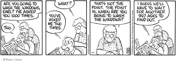 Comic Strip Brian Crane  Pickles 2009-09-02 request