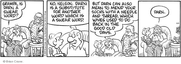 Comic Strip Brian Crane  Pickles 2009-09-05 cuss