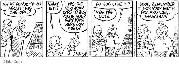 Comic Strip Brian Crane  Pickles 2009-08-24 buy