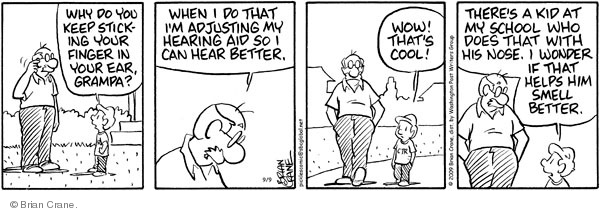 Comic Strip Brian Crane  Pickles 2009-09-09 hear