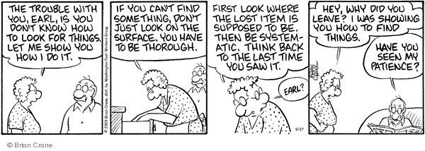 Comic Strip Brian Crane  Pickles 2009-09-17 elderly woman