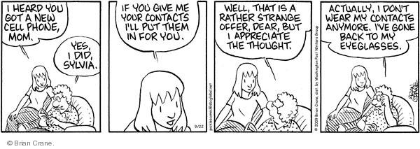 Comic Strip Brian Crane  Pickles 2009-09-22 contact