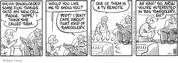 Comic Strip Brian Crane  Pickles 2009-09-24 elderly woman