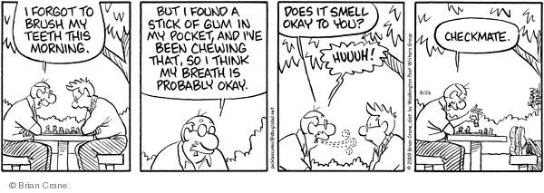 Comic Strip Brian Crane  Pickles 2009-09-26 bad tooth