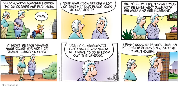 Comic Strip Brian Crane  Pickles 2009-09-27 grandmother