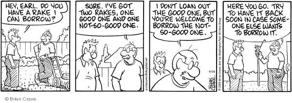 Comic Strip Brian Crane  Pickles 2009-09-28 loan