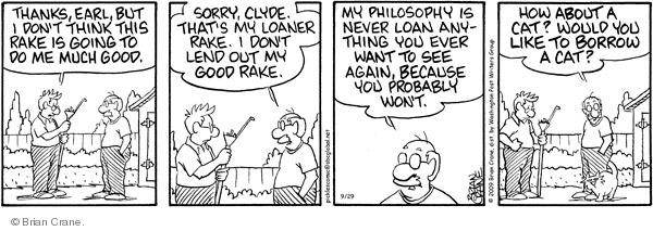 Comic Strip Brian Crane  Pickles 2009-09-29 broken