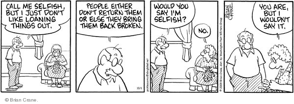 Comic Strip Brian Crane  Pickles 2009-10-01 bring