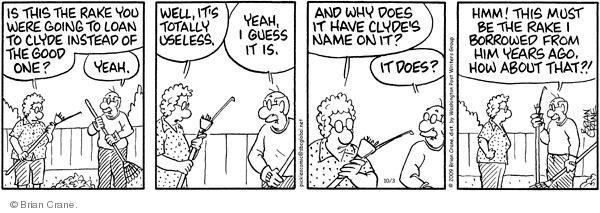 Comic Strip Brian Crane  Pickles 2009-10-03 instead