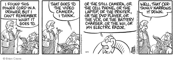Comic Strip Brian Crane  Pickles 2009-10-05 battery