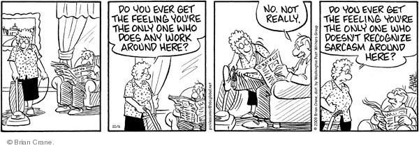 Comic Strip Brian Crane  Pickles 2009-10-06 husband