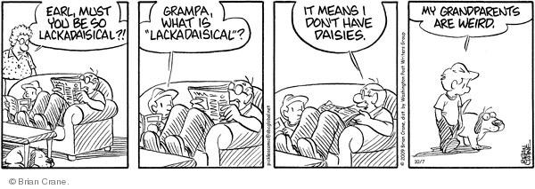 Comic Strip Brian Crane  Pickles 2009-10-07 husband